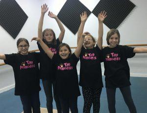 grupo de tap princess de la escuela de danza charock