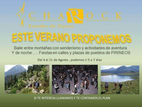 Pirineos en Agosto en charock tu escuela de baile y danza