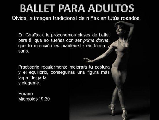 ballet para adultos en charock escuela de baile