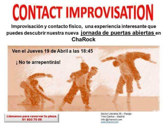 contact improvisation en charock tu escuela de baile y danza